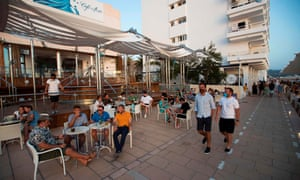 Tourists in Ibiza