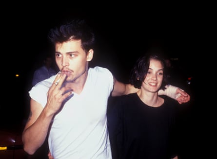 With Winona Ryder in 1990.