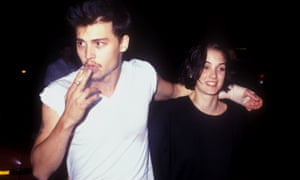 Johnny Depp and Winona Ryder in Los Angeles, 1990