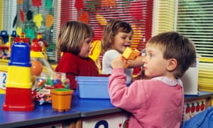 Children in a nursery class in Cardiff