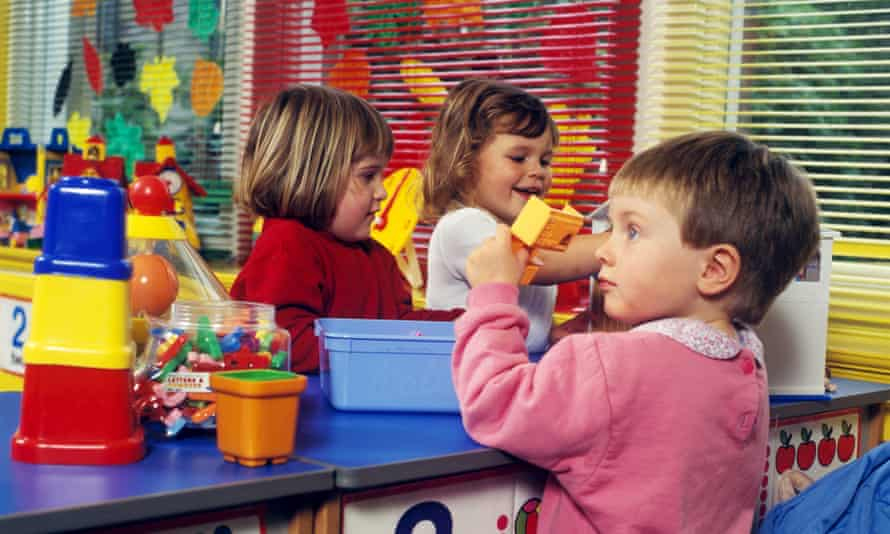 Children in a nursery class in Cardiff