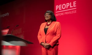 Diane Abbott addressing the Labour conference in Brighton.