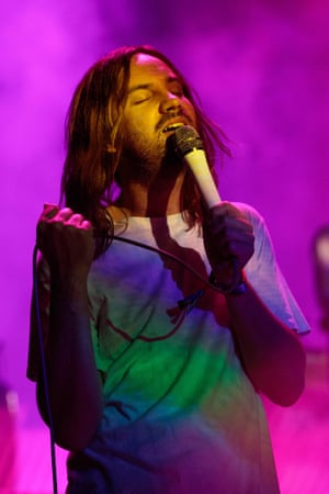 Kevin Parker of Australian band Tame Impala performs during the ACL Music Festival at Zilker Park in Austin, Texas on October 4, 2019.