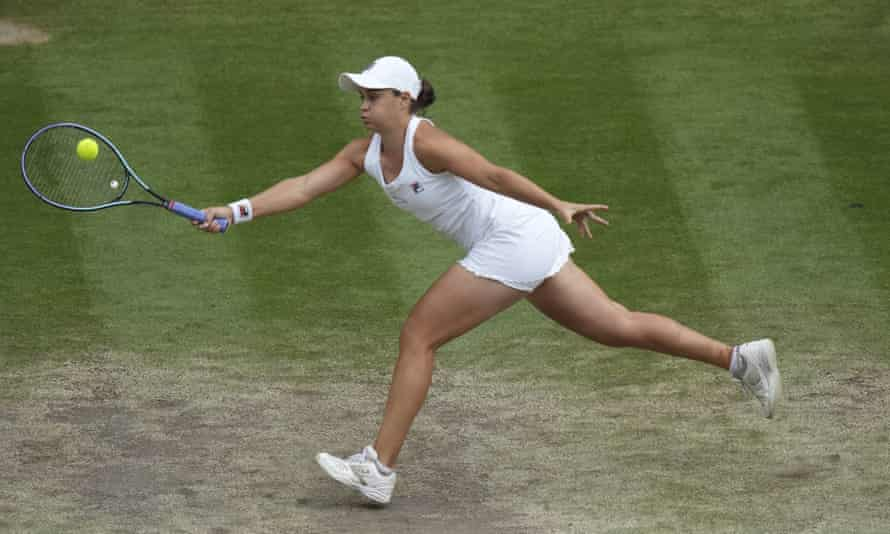Barty won Wimbledon for the first time.