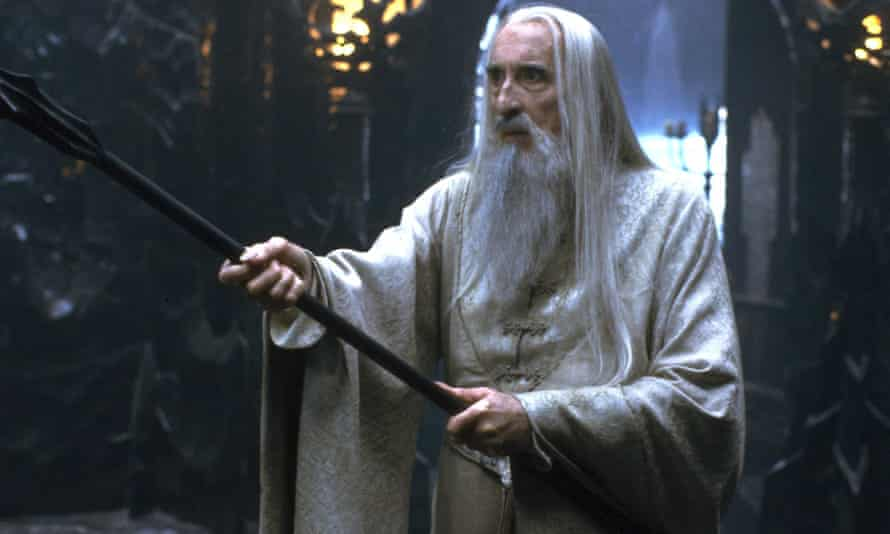The Lord of the Rings: The Fellowship of the Ring, with Christopher Lee as the wizard Saruman.