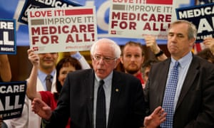 Bernie Sanders speaks at a news conference on Capitol Hill in Washington.