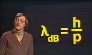 Quantum mechanics lecture televised in 1982.