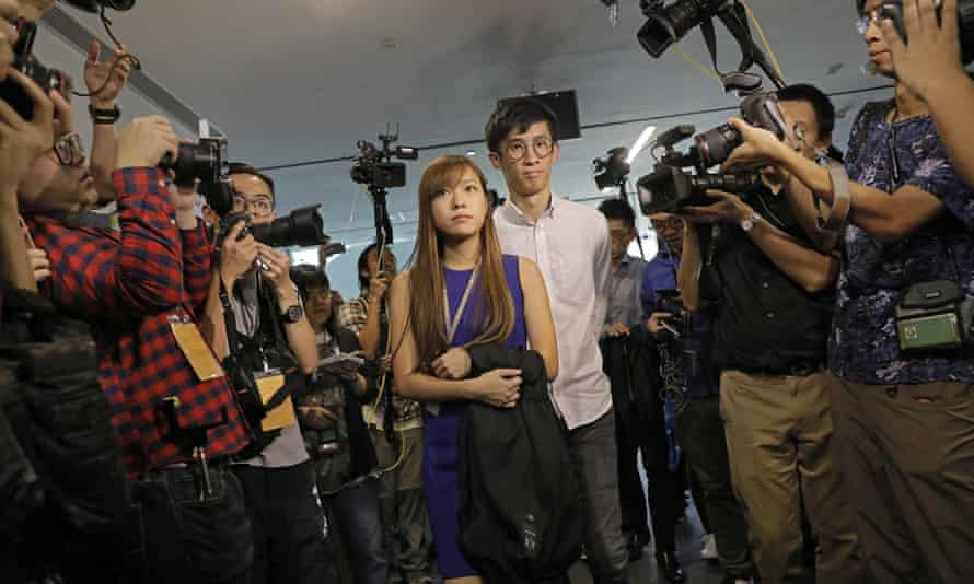 Yau Wai-ching and Sixtus Leung are both members of a party called Youngspiration and were elected to Hong Kong's 70-seat legislative council in early September.