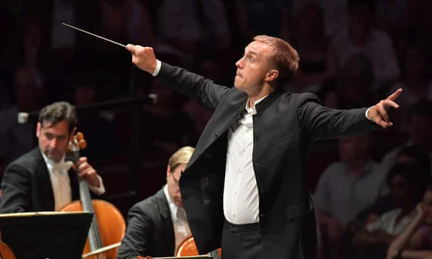 Prom 53 conductor Vasily Petrenko leads the Royal Liverpool Philharmonic Orchestra at the BBC Proms 2016.