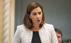 Queensland Liberal National party leader Deb Frecklington in parliament