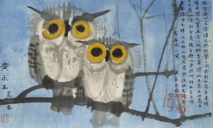 Subversive ... Huang Yongyu's Two Owls, China (1977) is at the British Museum as part of I object.