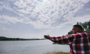 Lance Four Star fears the pipeline, which will cross the Missouri River a quarter mile from Fort Peck's border will threaten the tribes, burial grounds near the reservation and other sacred archeological sites.