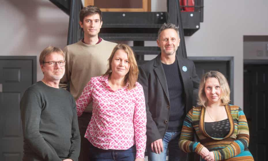 (From left) Wiard Sterk from the Netherlands, Pablo Masip from Spain, Elke Dittrich from Germany, Nicolas Hatton from France and Denny Pencheva, originally from Bulgaria.