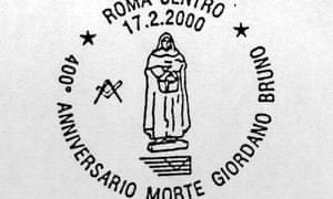 An Italian Post postmark commemorating the 400th anniversary of the execution of Giordano Bruno