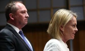 Barnaby Joyce and Fiona Nash