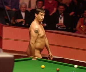 Mark Roberts makes an appearance before the 2004 World Snooker Championship final between England's Ronnie O'Sullivan and Scotland's Graeme Dott at the Crucible.