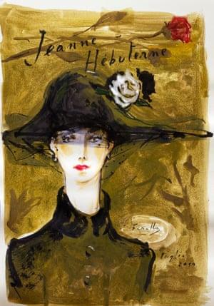 Jeanne Hebuterne in a black hat