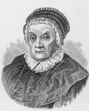 Portrait of Caroline Herschel as an old woman.