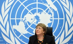 UN High Commissioner for Human Rights Michelle Bachelet in Geneva last year.