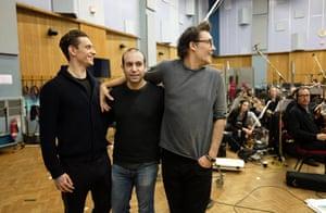Polunin with Ilan Eshkeri and David LaChapelle in the studio