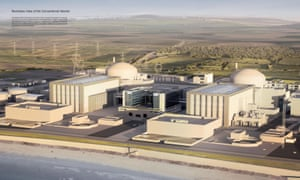 An artist's impression issued by EDF of how the Hinkley Point C station will look, if it is constructed.