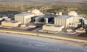 An artist's impression of how Hinkley Point C nuclear power station would look.