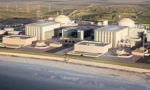 Artist's impression issued by EDF of how the new Hinkley Point C station will look.