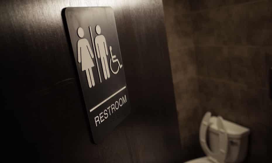 A gender neutral bathroom in a coffee shop in Washington, DC.