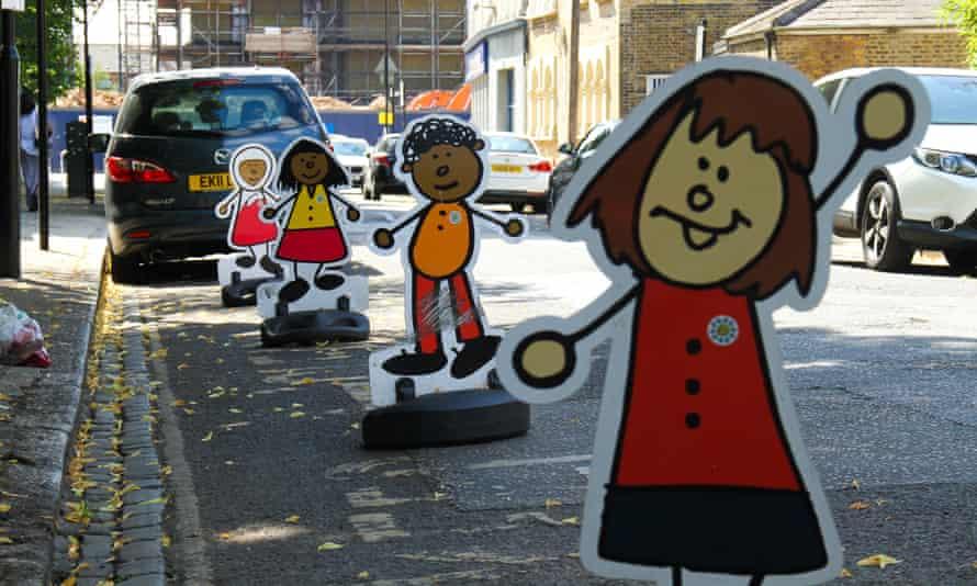 No-parking signs outside a preschool in east London.