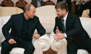 Vladimir Putin and Ramzan Kadyrov.