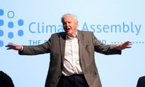 Sir David Attenborough at the first UK citizens' assembly on climate change in January 2020.