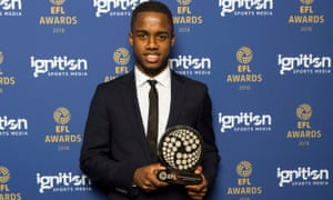 Championship player of the season, Ryan Sessegnon, at the EFL Awards.