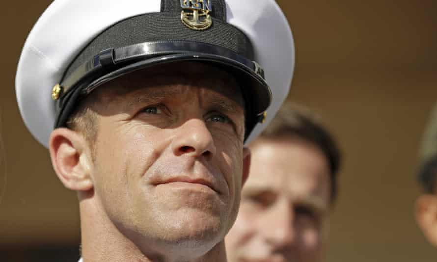 Eddie Gallagher, a former Navy Seal who is the subject of the podcast The Line.