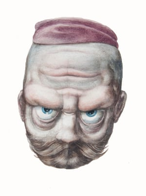 Reversible heads – Russian peasant with purple hat – the bruiser