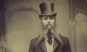 A man with a beard in Hove photographed circa 1895.
