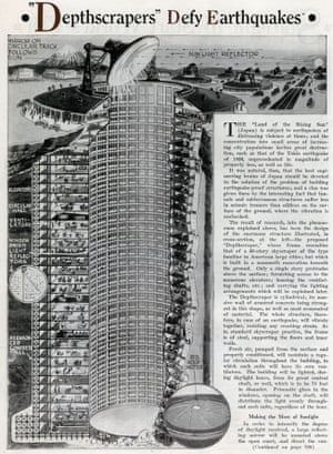 Depthscrapers featured in the November 1931 edition of the US magazine Everyday Science and Mechanics.