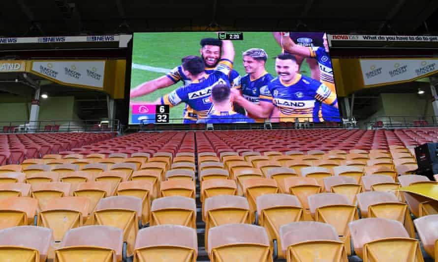 A big screen at Suncorp Stadium