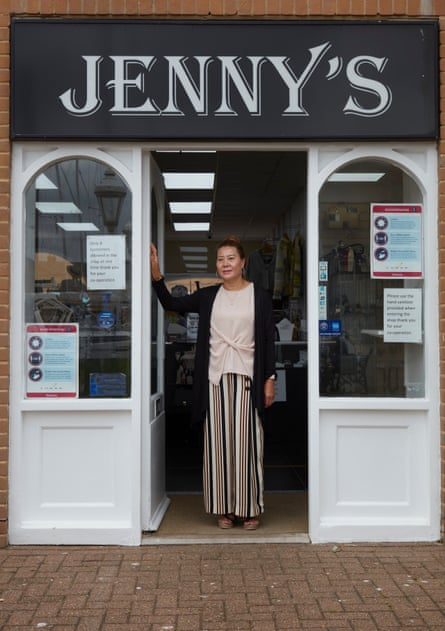 Jenny Xing at her shop on Brighton marina