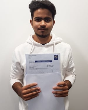 Mehedi Khan, from Harrow High Sixth Form in west London, achieved A*AAB