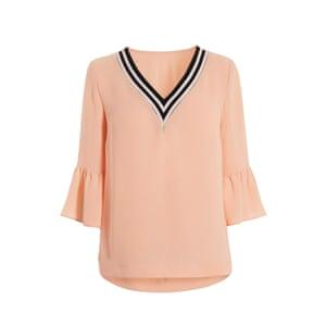 Pale pink V-neck, £25, next.co.uk
