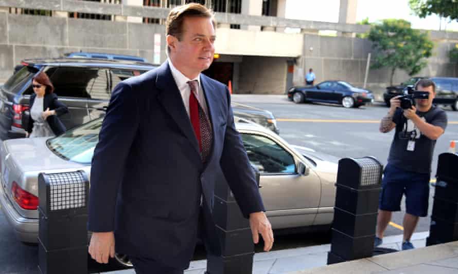 Paul Manafort arrives for arraignment in Washington on 15 June.