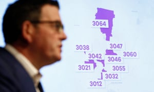 Daniel Andrews announces that 10 Melbourne postcodes will return to lockdown from midnight on Wednesday