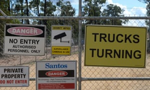 Santos's Bibblewindi water treatment facility which is part of its Narrabri gas project in NSW. A separate treatment plant for the same project was subject to a legal challenge in the land and environment court.