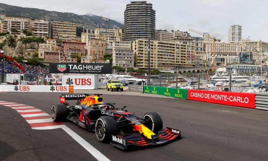 Red Bull's Max Verstappen on his way to victory in the Monaco Grand Prix.