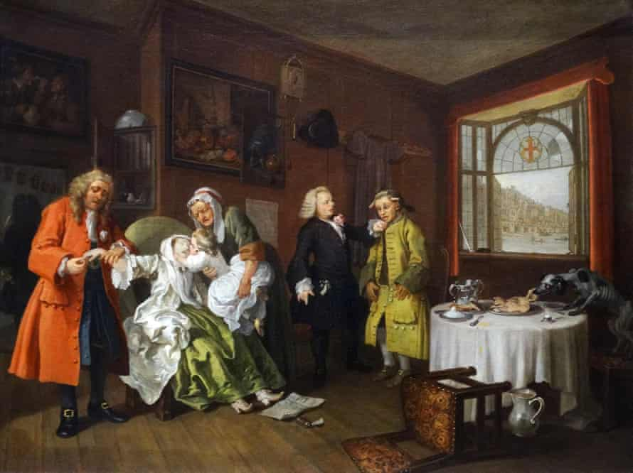 Marriage a-la-mode: 6. The Lady's Death by William Hogarth