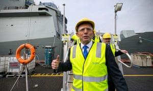 Tony Abbott visits shipyards in Adelaide on 8 August 2015.