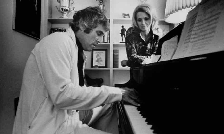 Bacharach with his second wife, the actor Angie Dickinson, in 1974.