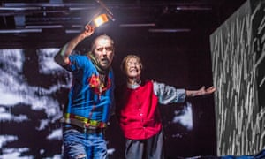 Rhys Ifans as the Fool and Glenda Jackson as Lear.