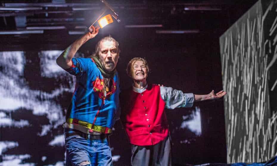 Rhys Ifans as the Fool and Glenda Jackson as Lear.