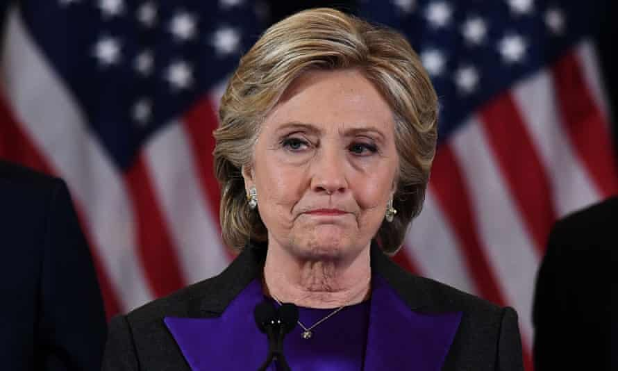 Hillary Clinton making her concession speech.